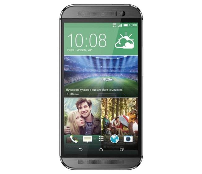 HTC One (m8) без черной полоски с надписью HTC